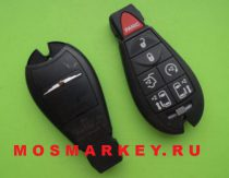 Chrysler smart key 433 Mhz (6 + 1) button