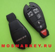 Chrysler smart key 433 Mhz (5 + 1) button