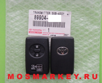 TOYOTA RAV4, URBAN CRUISER -  original smart key(смарт ключ) 433Mhz, 2 кнопки
